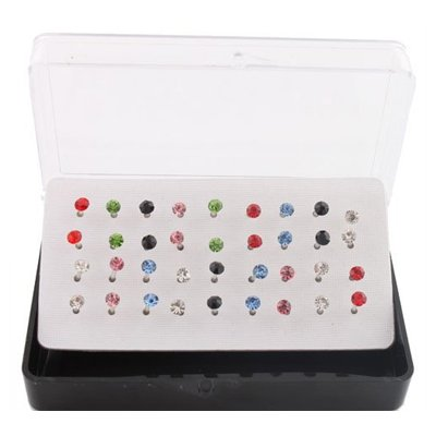 JOTW Eighteen Pairs of Nylon Post Stud Earrings