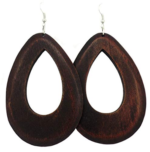 Exotic   Trendy Jewelry Big Wooden Handmade Earrings Rasta Earrings