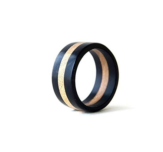 coolNaturalJewelry Ebony and Walnut Ring