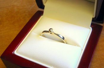 A promise ring in a box
