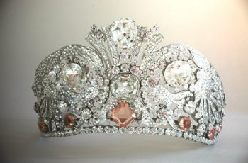 Rhinestones on a tiara